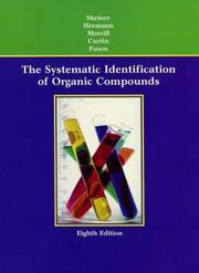 Cover of: The systematic identification of organic compounds |