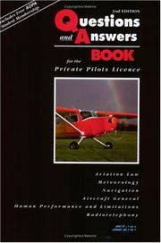 Cover of: Questions and Answers for the Private Pilot License Course 2004