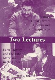 Cover of: Two Lectures: Stalin's Great Terror: Origins and Consequences