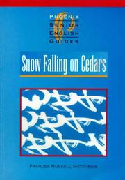 "Cover of: ""Snow Falling on Cedars"" (Senior English Literature Guides)"