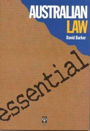 Cover of: Essential Australian Law