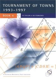 Cover of: International Mathematics Tournament of Towns, Book 4 |