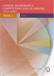Cover of: Chinese Mathematics Competitions and Olympiads, Book 2 |
