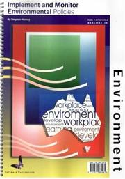 Cover of: Implement & Monitor Environment Policies | Stephen Harvey