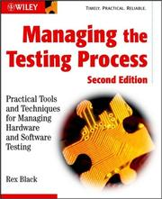 Cover of: Managing the Testing Process | Rex  Black