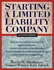 Cover of: Starting a limited liability company
