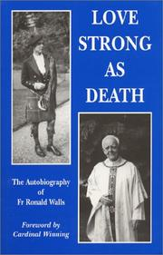 Cover of: Love Strong as Death | Ronald Walls