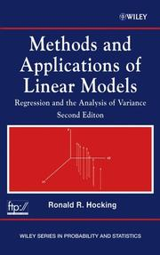 Methods and applications of linear models by R. R. Hocking