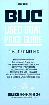 Cover of: BUC Used Boat Price Guide Vol. 2 (1999 Winter/Spring Edition) |