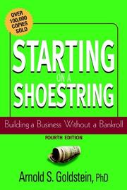 Cover of: Starting on a Shoestring | Arnold S. Goldstein