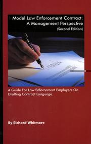 Cover of: Model Law Enforcement Contract A Management Perspective