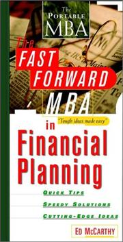 Cover of: The fast forward MBA in financial planning | Ed McCarthy