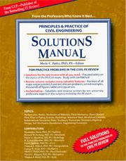 Cover of: Solutions Manual for Principles & Practice of Civil Engineering Review | Great Lakes Press
