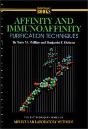 Affinity and Immunoaffinity Purification Techniques