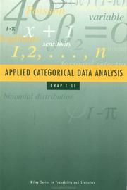 Cover of: Applied categorical data analysis
