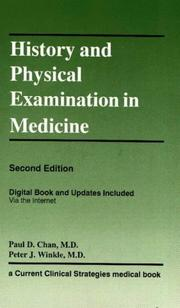 Cover of: History & Physical Examination in Medicine | Paul D. Chan