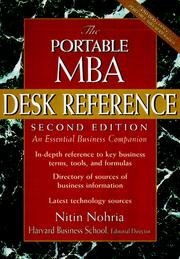 Cover of: The Portable MBA Desk Reference | Nitin Nohria