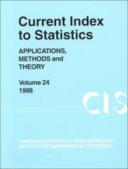 Cover of: Current Index to Statistics 1998 | Klaus Hinkelmann