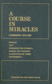 Cover of: A Course in Miracles by Foundation for Inner Peace
