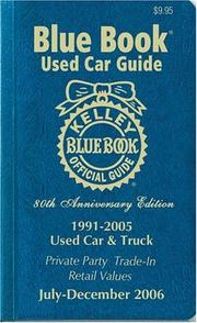 Cover of: Kelley Blue Book Used Car Guide | Kelley Blue Book