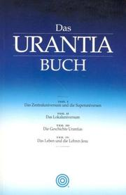 Cover of: Das Urantia Buch by