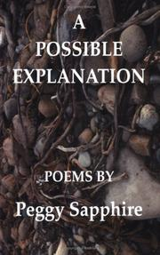 Cover of: A Possible Explanation | Peggy Sapphire