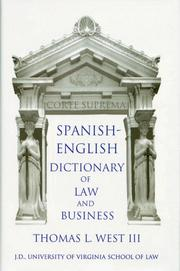 Cover of: Spanish-English Dictionary Of Law And Business
