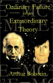 Cover of: An Ordinary Failure of an Extraordinary Theory | Arthur Bolstein