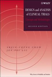 Cover of: Design and analysis of clinical trials