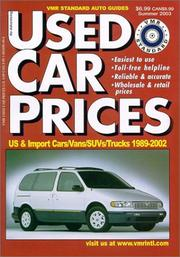 Cover of: VMR Standard Used Car Prices Summer 2003