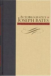 Cover of: Autobiography Of Joseph Bates