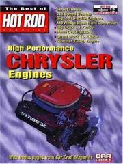 Cover of: High Performance Chrysler Engines (Best of Hot Rod Series) | Frank Adkins