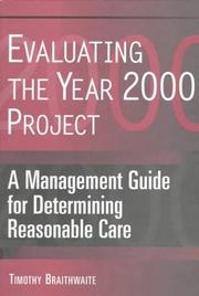 Cover of: Evaluating the year 2000 project