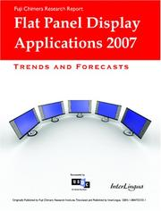 Cover of: Flat Panel Display Applications | Inc. Interlingua. com