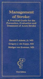 Cover of: Management of Stroke | Harold P. Adams