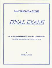 Final Exams by Thomas E. Felde