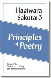 Cover of: Principles of Poetry | Sakutaro Hagiwara