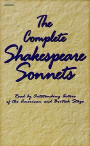 Cover of: The Complete Shakespeare Sonnets |