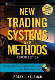 Cover of: New Trading Systems and Methods | Perry J. Kaufman