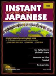 Cover of: Instant Conversational Japanese | William S. Y. Wang