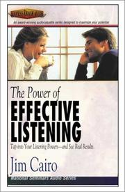Cover of: The Power of Effective Listening