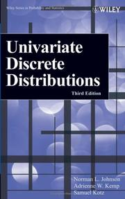 Cover of: Univariate discrete distributions