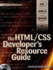 Cover of: The HTML/CSS Developer's Resource Guide