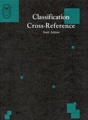 Cover of: Classification Cross-Reference | International Risk Mgt Institute