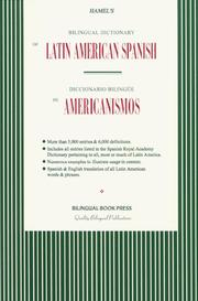 Cover of: Bilingual Dictionary of Latin American Spanish