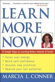 Cover of: Learn More Now | Marcia L. Conner