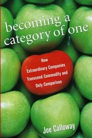 Cover of: Becoming a Category of One | Joe Calloway