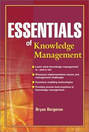 Cover of: Essentials of knowledge management |