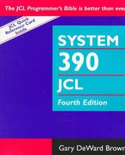 Cover of: System 390 JOB control language