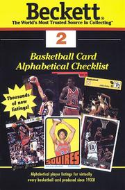 Cover of: Basketball Card Alphabetical Checklist | James Beckett